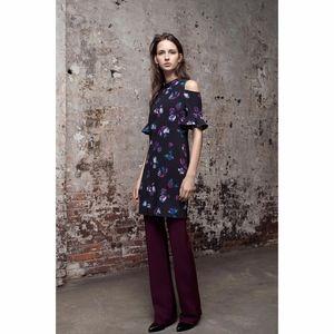 Rebecca Taylor Short Sleeve Bell Flower Dress